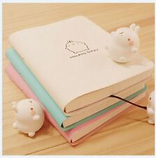 2016-2017 Cute Kawaii Notebook Cartoon Molang Rabbit Journal  Diary Planner Note