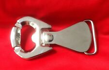 RING PULL CHROME LAGER BEER BOTTLE OPENER STUBBY ALE BELT BUCKLE