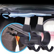 Rear Trunk Umbrella Hook Multi Holder Hanger Hanging Black 2pcs for Renault