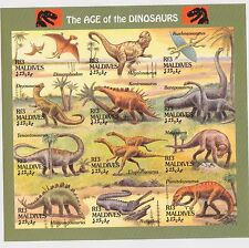 Maldives - Dinosaurs, Prehistoric Animals, 1994 - Sc 1970 Sht MNH - IMPERFORATE