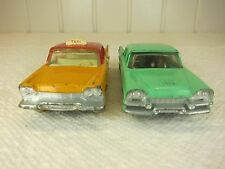 DINKY TOYS ENGLAND LOT of 2 PLYMOUTH TAXI & DODGE ROYAL-1950's ORIGINALS-NICE!