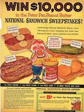 1960 Derby Peter Pan Peanut Butter $10,000 Sweepstakes Vintage Magazine Print Ad