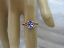 GORGEOUS 14 KT GOLD 1.27 CTW TANZANITE AND DIAMOND RING !!!!!!!!!!!