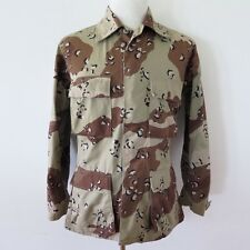 VINTAGE US ARMY JACKET CHOCOLATE CHIP DESERT CAMOUFLAGE DESERT STORM 1990 SMALL