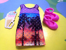Kelly Chelsea Friends Doll Clothes *Lavender Dress Toy & Shoes (b COMPARE TO 12.