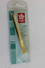 Pfeilring 1893G Tweezers Straight Gold-Plated 80mm