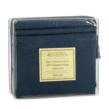 1500 TC THREAD COUNT LUXURY EGYPTIAN COTTON SHEET SET KING SIZE NAVY DARK BLUE