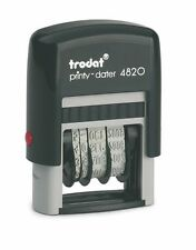 Trodat 4820 Self-Inking Date Stamp, Blue Ink