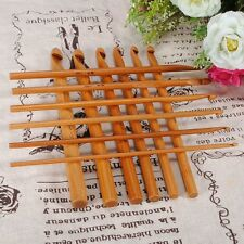 12X 6'' Bamboo Ganchillo Crochet Hook Agujas Knitting Needle Bambú Gancho 3-10mm