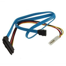 7 Pin SATA Serial ATA to SAS 29 Pin & 4 Pin Cable Male Connector Adapter OV