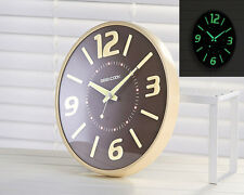 Creative Fluorescent Light Wall Clock Luminous Hanging Home Decor + Track Number