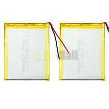 2x 3000mAh Rechargeable Polymer Battery W/ Flex Cable For 7'' Android Tablet New