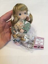 "2003 Precious Moments A Cat Lover's Prayer 5"" Porcelain Doll Ashton Drake Galler"