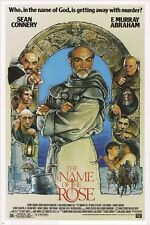 THE NAME OF THE ROSE classic movie poster SEAN CONNERY star actor 24X36 NEW