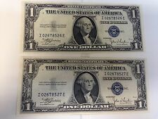 lot of 2 Silver certificate Notes 1935C Unc!