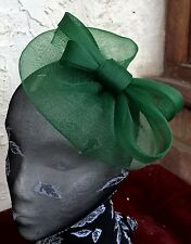 dark green fascinator millinery burlesque wedding hat ascot race bridal party