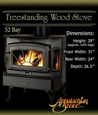 Appalachian 52 Bay FREESTANDING Wood Stove Fireplace