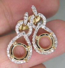 0.50CT SOLID 14K YELLOW GOLD NATURAL DIAMOND SETTING SEMI EARRINGS MOUNT E0001