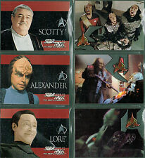 STAR TREK THE NEXT GENERATION SEASON SIX SET OF 6 EMBOSSED CARDS S31-S36