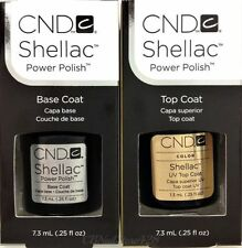 CND Shellac Gel Polish- Small Base + Top Coat 0.25oz/7.3ml