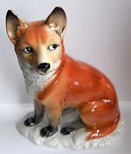 ENS Fuchs 21 cm Fox Hund Dog Volkstedt Thüringen Porzellan-Figur Wolf