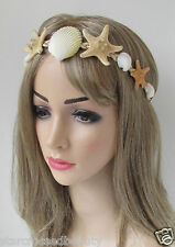 Real Starfish & Sea Shell Headband Mermaid Vintage Beach Bridal Fancy Dress k33