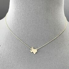 Fashionable Trendy Silver Dainty Metal Texas State Pendant Design Necklace
