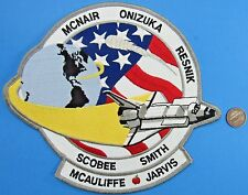 "NASA Jacket Back PATCH vtg Space Shuttle CHALLENGER STS-51L 8"" x 7"""