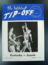 1957-58 UK Kentucky Wildcats v. Loyola Program *National Champions*