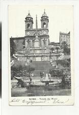 79765 ANTICA   CARTOLINA  DI  ROMA TRINITA' DEI MONTI