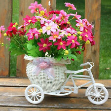 Bike Bicycle Design Flower Basket Pot Vase Plant Storage Holder Home Wedding bid
