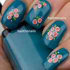 Nails WRAPS Nail Art Water Transfers Decals Pink Rose Buds Natural/False Y76