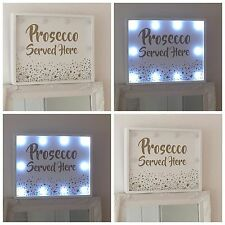 PROSECCO SERVED HERE WHITE HUMOUR LED PARTY HEN WEDDING PLAQUE SIGN MUM GIFT