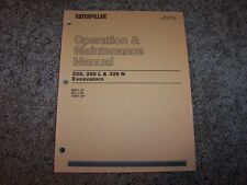 Cat Caterpillar Excavator 320L LN 9KK 2DL 1XM Owner Operation Maintenance Manual