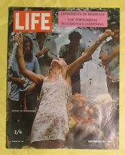 1969 LIFE MAGAZINE EUROPEAN EDITION FEATURING WOODSTOCK  EXCELLENT CONDITION