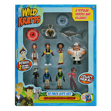 New Wild Kratts HEROES & VILLAINS 10 Pack Gift Set Action Figures