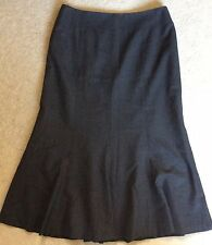 Ann Taylor NWOT Women's Grey Lined Midi Skirt - US8/UK12