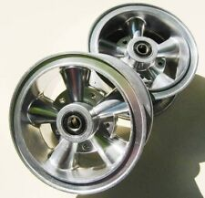 "(2) Mini Bike GO KART ASTRO ALLOY 6"" ALUMINUM 2 PIECE WHEELS RIMS  CRAGER LIKE !"