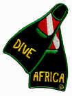 SCUBA DIVE PATCH - DIVE AFRICA SCUBA FIN PATCH * NEW