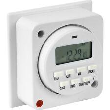 NUOVO 7 Giorni Elettronico Illuminazione Timer 16A (8A) Ogni