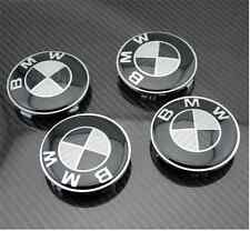 4Pcs  black BMW MEmblem Logo Badge Hub Wheel Rim Center Cap 68mm Set of 4