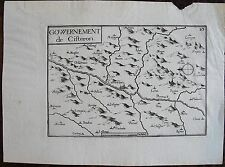 CARTE GOUVERNEMENT DE CISTERON . Par TASSIN. Carte originale de 1633.  Dimension
