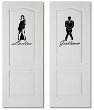 Large Gents & Ladies Bathroom Toilet WC Sign Wall Door Decal Vinyl Sticker Decor