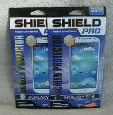 Shield Pro Set Of 2 Premium Screen Protectors For Galaxy S4 ~ NEW