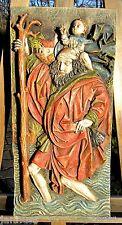 Rarität Achatit Wandbild hl. Christofferus 58cm außergewöhnliche Künstlerarbeit