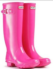 New Hunter Tall Lipstick Pink Rain Snow Boots Womens Size 6