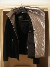 UNCONDITIONAL  black and silver mini short coat