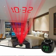 iMounTEK Alarm Clock LED Wall/Ceiling Projection LCD Digital Voice Talking