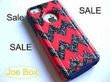 Custom Otterbox Commuter iphone 5C Case Sparkly chevron