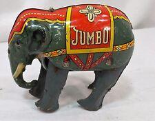 VTG 1950´s BLOMER & SCHULER JUMBO ELEPHANT TIN LITHO WIND UP TOY US ZONE GERMANY